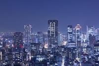 大阪の街並の夜景