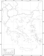 ギリシャ 白地図