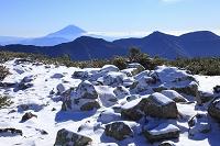 静岡県 富士見平 富士山と雪景色の展望台