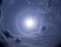 卷層雲(うすぐも) 太陽の暈 5月 兵庫県 明石市