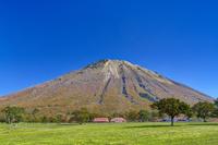鳥取県 大山放牧場と大山