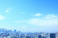東京都 文京区から新宿方面のビル群