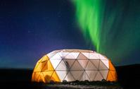 グリーンランド オーロラとテント