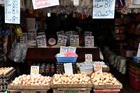 バンコク クロントーイ市場 鶏卵
