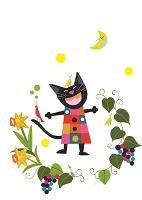 黒猫クロちゃんの春の日