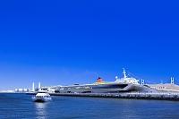 神奈川県 大桟橋と遊覧船