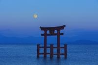滋賀県 満月の白鬚神社