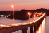 山口県 角島大橋と角島 夜景