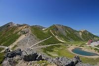 岐阜県 大黒岳から剣ヶ峰と鶴ヶ池 乗鞍岳