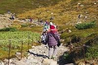 北海道 旭岳の登山客