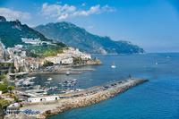 イタリア アマルフィの港