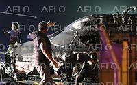 マニラで航空機が墜落