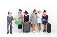 コスチュームを着た日本人の子供