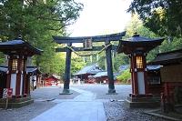 栃木県 日光二荒山神社 鳥居と拝殿