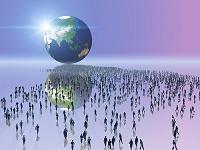 地球に向かう群衆