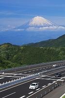静岡県 富士山と新東名高速