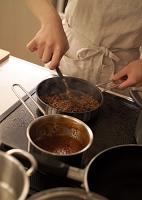 鍋の中のミートソース