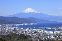 静岡市 日本平 富士山と清水市街