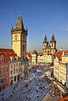 チェコ プラハ 旧市街広場 ティーン教会