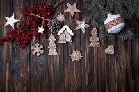 クリスマスオーナメントとクッキー