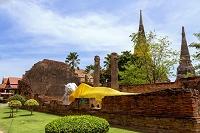 タイ アユタヤ ワット・ヤイチャイモンコン 涅槃像