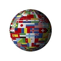 国旗の地球儀