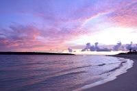 沖縄県 宮古島 与那覇前浜の夕景