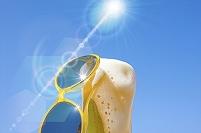 ビールとサングラス