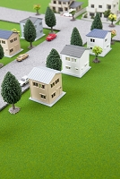 模型で作った街並み