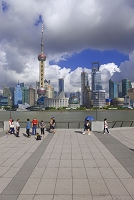 中国 上海 外灘から見た浦東