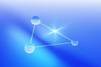 球体と光イメージ CG