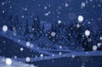 新潟県 雪が降る豪雪地の棚田