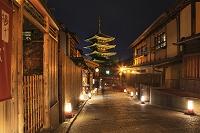 京都府 東山花灯路 八坂道と八坂の塔
