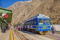 ペルー クスコ郊外 オリャンタイタンボ駅 展望列車