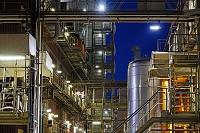 ドイツ ミンデン 夜の化学工場