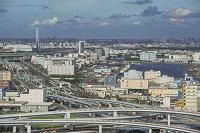 首都高速道路と東雲、辰巳周辺の街並み