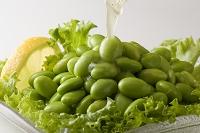枝豆のサラダにドレッシング