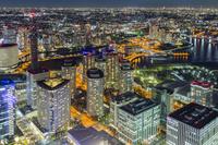 神奈川県 横浜ランドマークタワーからの夜景