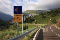スペイン アラゴン地方 ハカ近郊 サンチャゴ巡礼路 ソンポール峠...