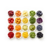 野菜と果物の集合