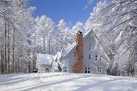 長野県 雪の白い家