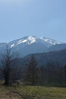 長野県 乗鞍高原 残雪光る乗鞍岳