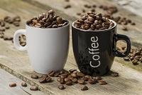 カップの中のコーヒー豆