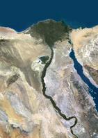 衛星写真 エジプト ナイル川デルタ