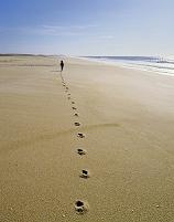 ポルトガル ビーチを歩く男の子