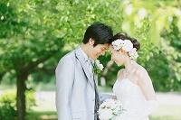日本人夫婦のグリーンウェディング