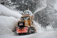 豪雪の様子 道路の除雪 新潟県 十日町市