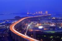 香川県 瀬戸大橋の夜景