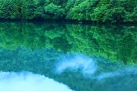 栃木県 奥日光 湯ノ湖と朝霧