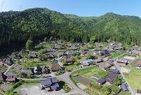 京都 美山 空からかやぶきの里